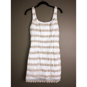 LILLY PULITZER | White Gold Striped Eyelet Dress 2